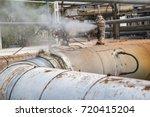 corrosion rusty valve gas leak... | Shutterstock . vector #720415204
