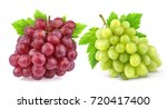 red and green grape with leaves ... | Shutterstock . vector #720417400