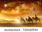 the three wise men magi on... | Shutterstock .eps vector #720420934