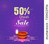 vector illustration of diwali... | Shutterstock .eps vector #720422956