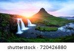 picturesque icelandic landscape ... | Shutterstock . vector #720426880