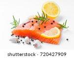 Salmon Raw. Salmon Red Fish...