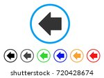 arrow left rounded icon. style... | Shutterstock .eps vector #720428674