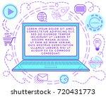 vector illustration of website... | Shutterstock .eps vector #720431773