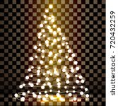christmas tree made of lights... | Shutterstock .eps vector #720432259