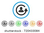 update user rounded icon. style ... | Shutterstock .eps vector #720433084