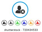 delete user rounded icon. style ... | Shutterstock .eps vector #720434533