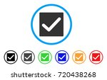 valid tick rounded icon. style... | Shutterstock .eps vector #720438268