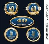 anniversary badge set   Shutterstock .eps vector #720440590
