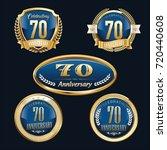 anniversary badge set   Shutterstock .eps vector #720440608
