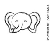 cute elephant icon  | Shutterstock .eps vector #720445216