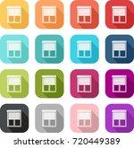 colorful window pane icon half... | Shutterstock .eps vector #720449389