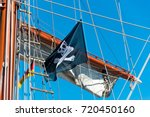 Flying Pirate Flag On Three...