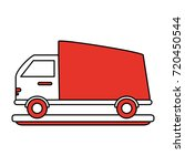 delivery truck vehicle | Shutterstock .eps vector #720450544