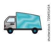 delivery truck vehicle | Shutterstock .eps vector #720451414