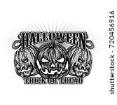 halloween t shirt design with... | Shutterstock .eps vector #720456916