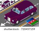 baku taxi vector with... | Shutterstock .eps vector #720457159