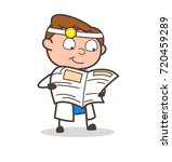 cartoon physiatrist reading... | Shutterstock .eps vector #720459289
