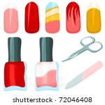 set of a manicure accessories... | Shutterstock .eps vector #72046408