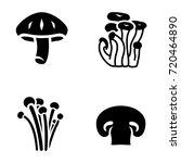 mushroom vector icons | Shutterstock .eps vector #720464890