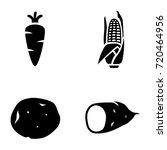 vegetables vector icons | Shutterstock .eps vector #720464956