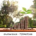 graph money coins stock finance ... | Shutterstock . vector #720465166
