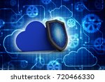 3d illustration cloud with... | Shutterstock . vector #720466330