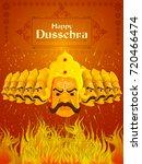vector illustration of ravana... | Shutterstock .eps vector #720466474