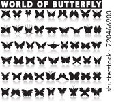 butterfly icon set | Shutterstock .eps vector #720466903