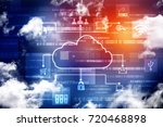 2d rendering cloud computing | Shutterstock . vector #720468898