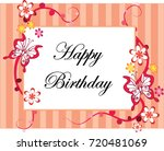happy birthday card | Shutterstock .eps vector #720481069