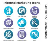 inbound marketing vector icons... | Shutterstock .eps vector #720481684