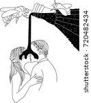 kissing under the lemonade | Shutterstock .eps vector #720482434