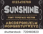 vintage font alphabet... | Shutterstock .eps vector #720483823