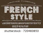 vintage font alphabet... | Shutterstock .eps vector #720483853