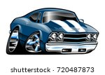 classic american muscle car... | Shutterstock . vector #720487873
