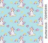 unicorn pop art collection ... | Shutterstock .eps vector #720493444