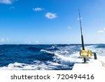 fishing rod in a saltwater... | Shutterstock . vector #720494416