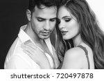 fashion portrait of a beautiful ... | Shutterstock . vector #720497878