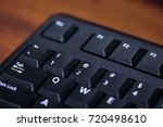 edge of the keyboard with some...   Shutterstock . vector #720498610