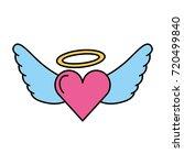 romantic heart love wings... | Shutterstock .eps vector #720499840