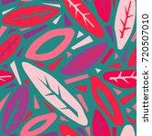 seamless autumn leaves pattern... | Shutterstock .eps vector #720507010