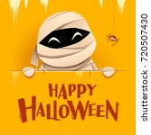 happy halloween. mummy with big ... | Shutterstock .eps vector #720507430