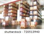de focused warehouse racks with