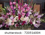 beautiful flower arrangement... | Shutterstock . vector #720516004