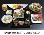 japanese restaurant course meal | Shutterstock . vector #720517810