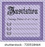 violet vintage invitation. with ...   Shutterstock .eps vector #720518464