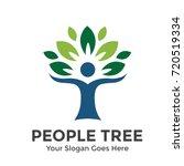people tree vector logo template | Shutterstock .eps vector #720519334
