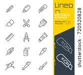 lineo editable stroke   writing ... | Shutterstock .eps vector #720520828