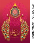 happy diwali festival card with ... | Shutterstock .eps vector #720522460